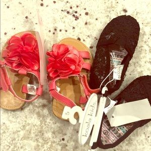 NWT girls shoes 2 pair